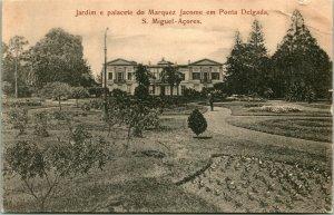 Vtg. Postcard Portugal - Jardim e Palacete do Marquez Jacome em Ponta Delgada
