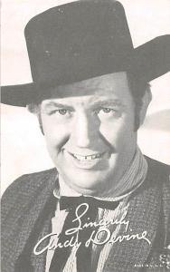 Andy Devine Western Actor Mutoscope Unused