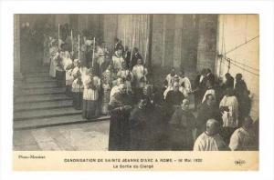 Canonisation de Sainte Jeanne D´Arc a Rome-16Mai 1920 La Sortie du Clerge