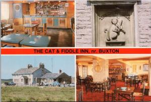 Cat and Fiddle Inn Buxton UK *Closed Multiview Unused Vintage Postcard D40