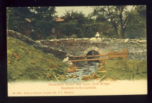 Stamford, New York/NY Postcard, Hasbrouck Studio & Stone Arch Bridge