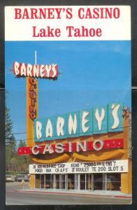 Nevada, Lake Tahoe, Barney´s Casino, unused