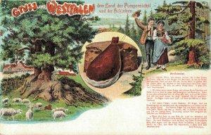 Germany Gruss aus Westfalen dem Land der Pumpernickel und der Schinken 04.53
