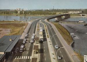 Strasbourg Germany 1964 Motorway Traffic Postcard
