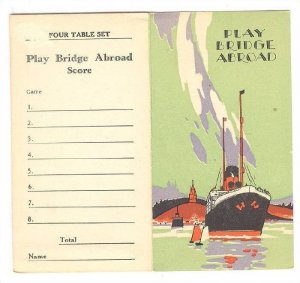 Ocean Liner BRIDGE Playing Cards Score card & Ticket game, 1927, S.S. MAJESTIC