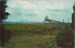 Vtg Postcard John P Grace Memorial Cooper River Bridge Charleston South Carolina