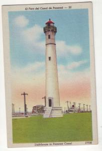 P716 linen card el faro del canal panama lighthouse