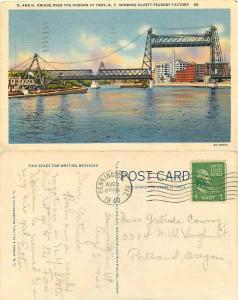 D. and H. Bridge Over the Hudson at Troy, New York, 1940 Linen