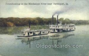 Steamboats On The Mississippi River Ferry Boat, Ferries, Ship, Ships, Postcar...