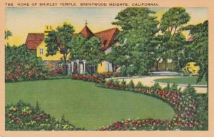 California Brentwood Heights Home Of Shirley Temple