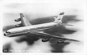 Trans World Airlines TWA Boeing Jet Stratoliner Photo #5D By Enell RPPC