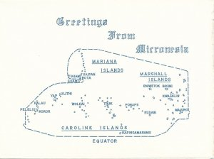 New Year Greetings from Micronesia - Folded Note Paper - NOT a Postcard
