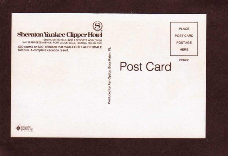 FL Sheraton Yankee Clipper Hotel Inn Ft Fort Lauderdale Florida Postcard