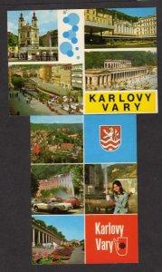 Czechoslovakia Lot 2 Karlovy Vary Postcards Carte Postale Czech Republic PC
