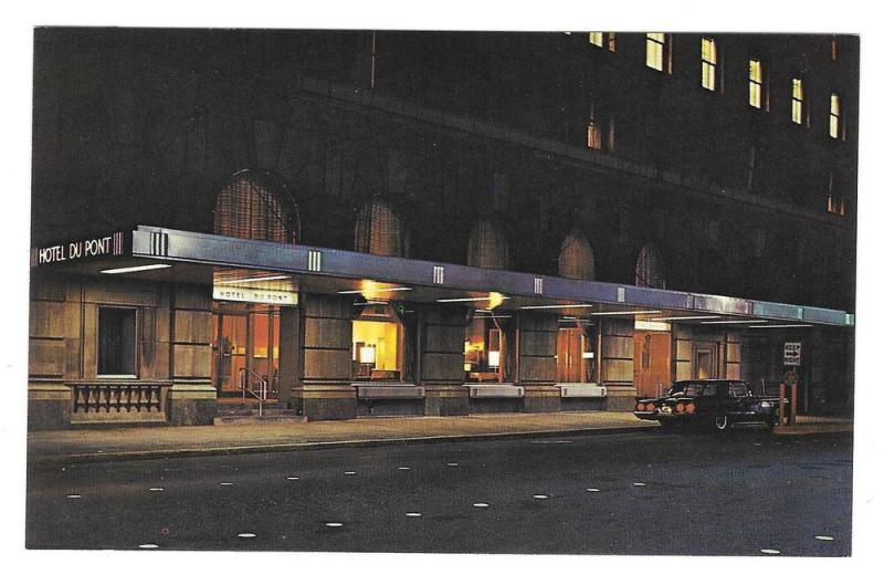 Du Pont Hotel Wilmington DE DuPont Night View Vtg Postcard