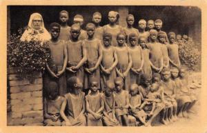 Kilwa Tanzania Mission House Students Antique Postcard J55994