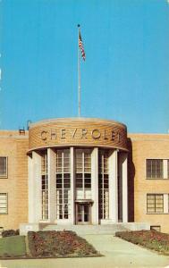 Flint Michigan Chevy Motor Division Street View Antique Postcard K34125