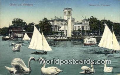Gruss aus Hamburg Germany, Deutschland Postcard Uhlenhorster Fahrhaus Gruss a...