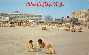 Children Playing on Beach in Atlantic City, New Jersey