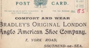 Southend On Sea Shoe Shoes Company Antique Advertising Postcard