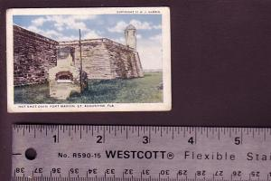 Mini Postcard, 2 1/4 X 3 1/2 Inches, Hot Shot Oven, Fort Marion, St Augustine...