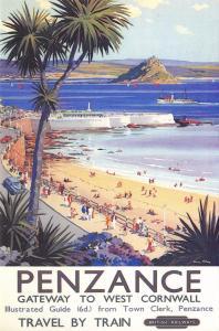 Postcard Penzance British Railways c1955 Repro Railway Advertising Card