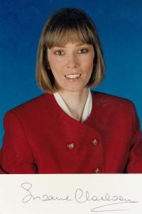 Suzanne Charlton Weather Girl Hand Signed Cast Card Photo