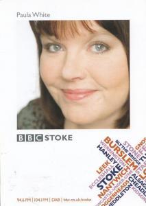 Paula White BBC Radio Stoke Cast Card Photo