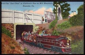 42020) Virginia ROANOKE The Zoo Choo at Children's Zoo Mill Mountain - LINEN