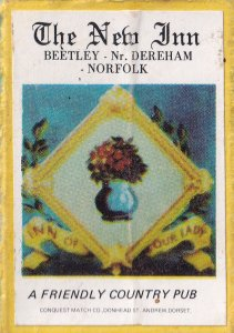 The New Inn Bentley Dereham Norfolk Pub Matchbox Label