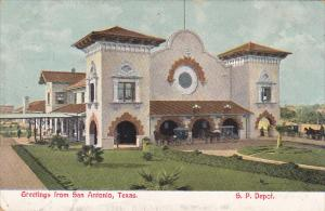 Southern Pacific Railroad Depot Greetings From San Antonio Texas