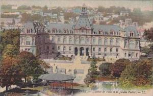 France Le Havre L'Hotel de Ville et le Jardin Public