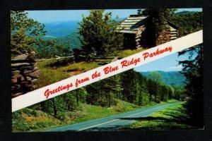 VA Greetings from BLUE RIDGE PARKWAY VIRGINIA Postcard TN Tennessee