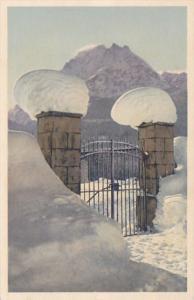 Switzerland Adelboden Winter Scene