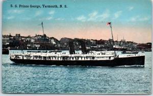 Yarmouth, Nova Scotia Canada Postcard S.S. Prince George Steamer Ferry c1910s