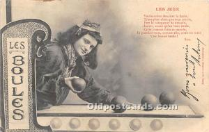 Old Vintage Lawn Bowling Postcard Post Card Les Jeux, Les Boules Postal Used ...