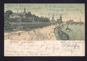 DRESDEN GERMANY KONIGL. BELVEDERE 1905 ANTIQUE VINTAGE POSTCARD