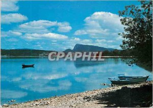 Postcard Modern Lights and colors on the Vallee de Joux Lake and Dt Vaulion t...