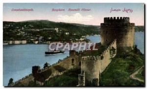 Postcard Old Constantinople Roumeli Hissar Bosporus Turkey