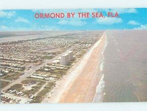 Pre-1980 BEACH SCENE Ormond Beach Florida FL AE9150