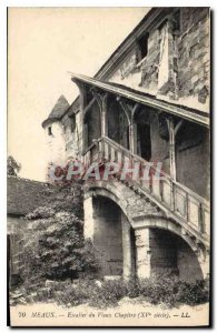 Postcard Meaux Old Staircase Old Chapter (fifteenth century)