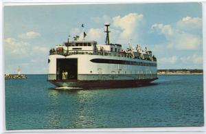 Ferry Islander Boat Martha's Vineyard Massachusetts postcard