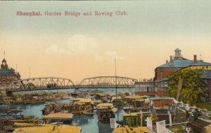 SHANGHAI , China , 1900-10s ; Garden Bridge & Rowing Club