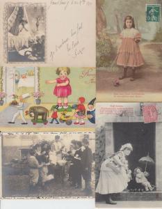 JEUX JOUET GAMBLING GAMES 121 Vintage Cartes Postales 1900-1940