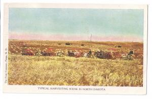 North Dakota Harvesting Scene Porte Co. Fargo ND UDB