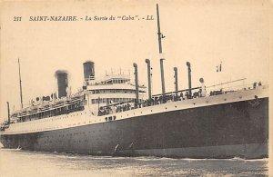 Cuba Compagnie Generale Transatlantique Ship Unused