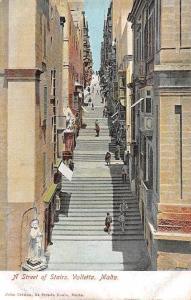 Malta A Street of Stairs, Valletta