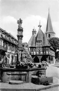 Michelstadt im Odenwald Rathaus und Michelsbrunnen Fountain Town Hall