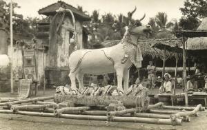 indonesia, BALI, Cremation Bull (1910s) RPPC Postcard