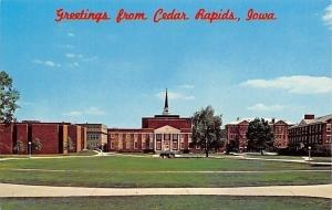 Cedar Rapids Iowa~Coe College Campus Panorama~Cherry Auditorium~Hickok Hall~1960
